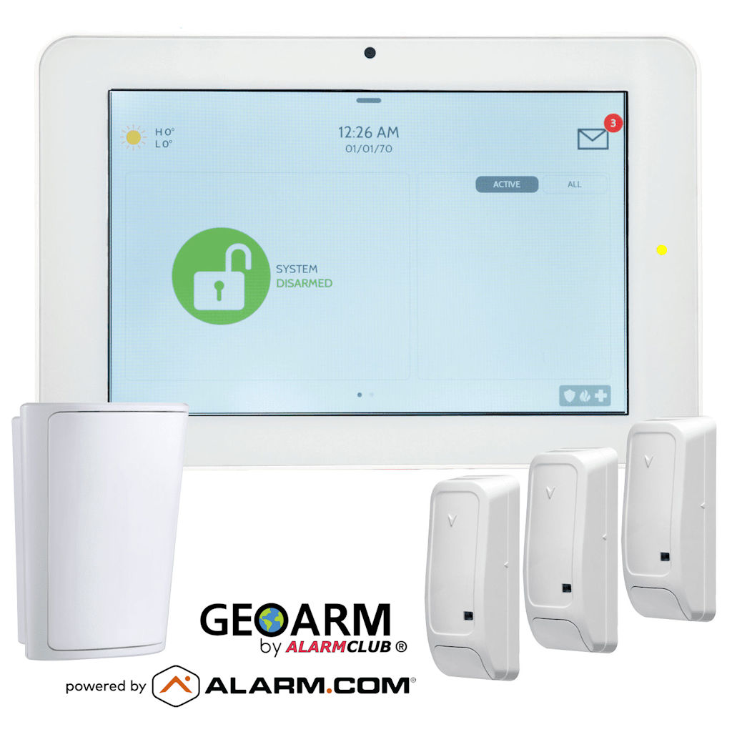 The Qolys IQ Panel 2 Plus is Powered by Alarm.com and GeoArm Security.